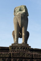 Lion sculptures, East Mebon temple, Angkor Wat Temple complex, UNESCO World Heritage Site, Angkor, Siem Reap, Cambodia, Indochin