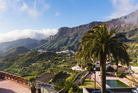 Volcanic landscape surrounding the mountain village of Tejada, Gran Canaria, Las Palmas, Canary Islands