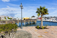 View of New Harbour, Marina Rubicon, Playa Blanca, Lanzarote, Canary Islands, Spain