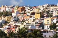 Colorful Houses, San Sebastian de la Gomera, La Gomera, Canary Islands, Spain
