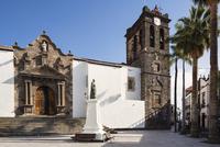 Iglesia Matriz de El Salvador and Statue of Manuel Diaz Hernandez, Plaza de Espana, Santa Cruz de la Plama, La Palma Island, Can