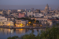 View over Harbour Entrance towards City Center, Havana, Cuba