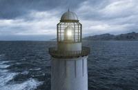 Digital Illustration of Lighthouse in Rain