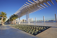 Redeveloped Seaport, Cruise Ship Terminal and Promenade, Port of Malaga, Malaga, Andalucia, Spain