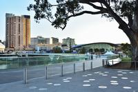 Bridge over Torrens Lake and Adelaide Festival Centre, Adelaide, South Australia, Australia