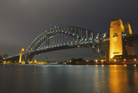 Sydney Harbour Bridge at Night, Sydney, New South Wales, Australia