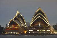 Sydney Opera House at Dusk, Sydney, New South Wales, Australia