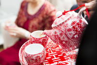 Pouring Tea for Chinese Tea Ceremony for Wedding