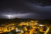 Storm over Alcaniz, Teruel Province, Aragon, Spain