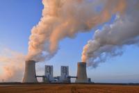 Coal Fired Power Station Neurath II at Sunrise, Neurath, Bergheim District, North Rhine-Westphalia, Germany