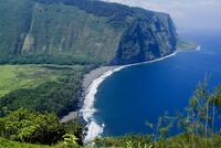View of Waipio Valley, Island of Hawaii (Big Island), Hawaii, United States of America, Pacific, North America