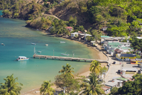 Pier at Pirate Bay, Charlotteville, Tobago, Trinidad and Tobago, West Indies, Caribbean, Central America 20025323389| 写真素材・ストックフォト・画像・イラスト素材|アマナイメージズ