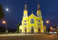 Iglesia de San Francisco, Plaza de Armas, Castro, Chiloe Island, Chile