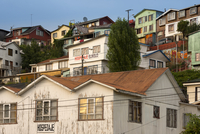Houses and Lodgings in Downtown Castro, Chiloe Island, Chile