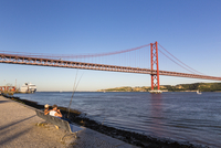 April 25th Bridge connecting Lisbon and Almada, Belem, Lisbon, Portugal