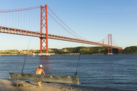 April 25th Bridge connecting Lisbon and Almada, Belem, Lisbon, Portugal