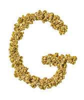 Letter G Made from Granola