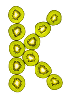 Letter K Made with Kiwi