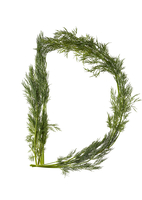Letter D Made with Dill