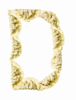 Letter D Made with Dumplings