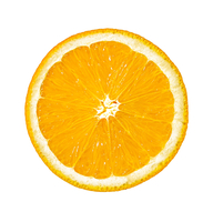 Letter O made from an Orange Slice