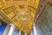 Vatican Museum interior, Gallery of Maps, Vatican city, Rome, Italy