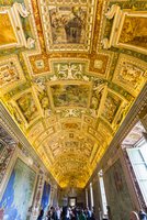 Vatican Museum interior, Gallery of Maps, Vatican City, Rome, Italy