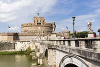 Castle Sant'Angelo and Ponte Sant'Angelo, Rome, Italy