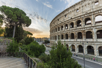 Colosseum at sunrise, UNESCO World Heritage Site, Rome, Italy