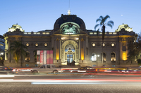 National Museum of Fine Arts in Evening, Bellas Artes Neighborhood, Santiago de Chile, Chile