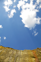 Cliff against blue sky, Isle of Wight