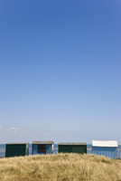 Beach huts and blue sky