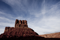 Sandstone Formations and Cloudy Blue Sky