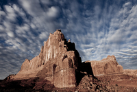 Sandstone Fins and Cloud Formations