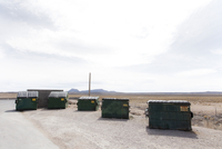Waste Disposal Containers in the Desert