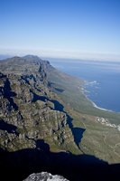 Aerial View of Twelve Apostles Mountains, Cape Town, South Africa