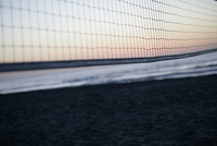 View of a net in a beach.