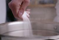 Adding Salt to a Pan