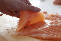 Escalopes from Salmon Fillet