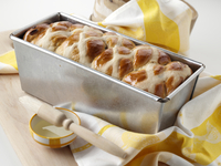Easter hot cross loaf editorial food