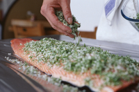 Preparing Salmon for Gravadlax 20025326916| 写真素材・ストックフォト・画像・イラスト素材|アマナイメージズ
