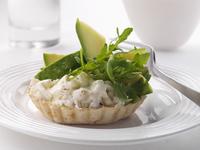 Crab and avocado tartlet