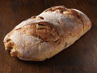 An apple sourdough loaf of bread