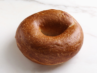 A bagel on a white background