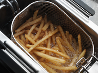 Chips deep fat frying