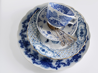 Blue and white antique china