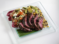 Beef and salad lunchbox