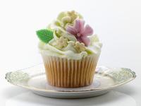 Flower iced cupcake