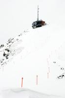 Switzerland, Arosa, Skiing region, Ski slope and antenna