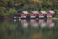Norway, Fjord Norway, Flam village on the waterfront